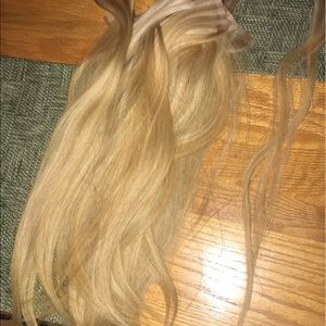 18 inch AQUA tape in hair extensions